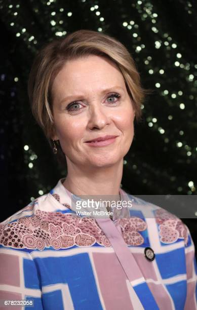 Cynthia Nixon attends the 2017 Tony Awards Meet The Nominees Press Junket at the Sofitel Hotel on May 3 2017 in New York City