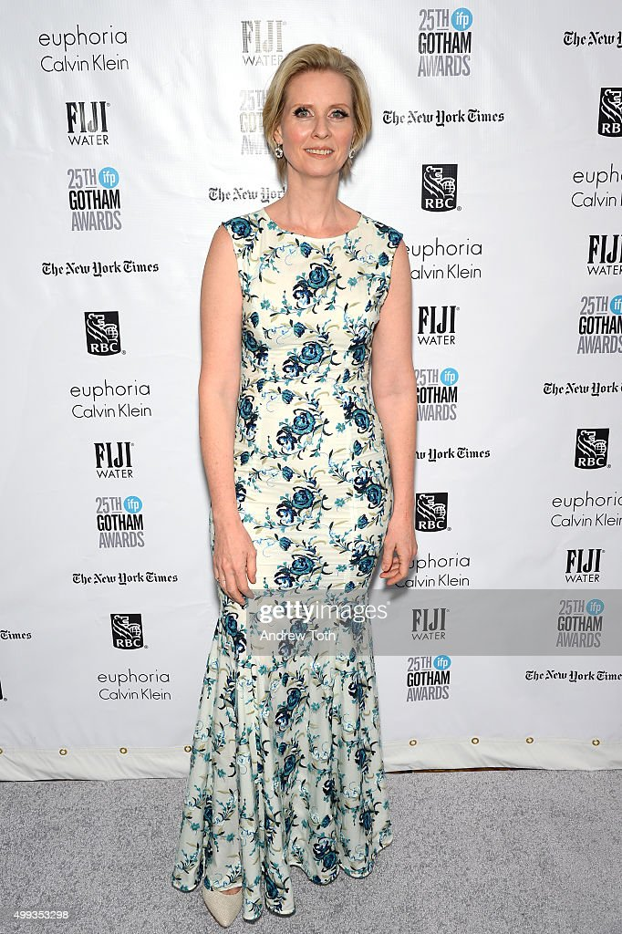 <a gi-track='captionPersonalityLinkClicked' href=/galleries/search?phrase=Cynthia+Nixon&family=editorial&specificpeople=202583 ng-click='$event.stopPropagation()'>Cynthia Nixon</a> attends the 25th annual Gotham Independent Film Awards at Cipriani Wall Street on November 30, 2015 in New York City.