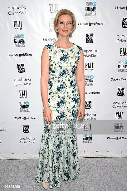 Cynthia Nixon attends the 25th annual Gotham Independent Film Awards at Cipriani Wall Street on November 30 2015 in New York City