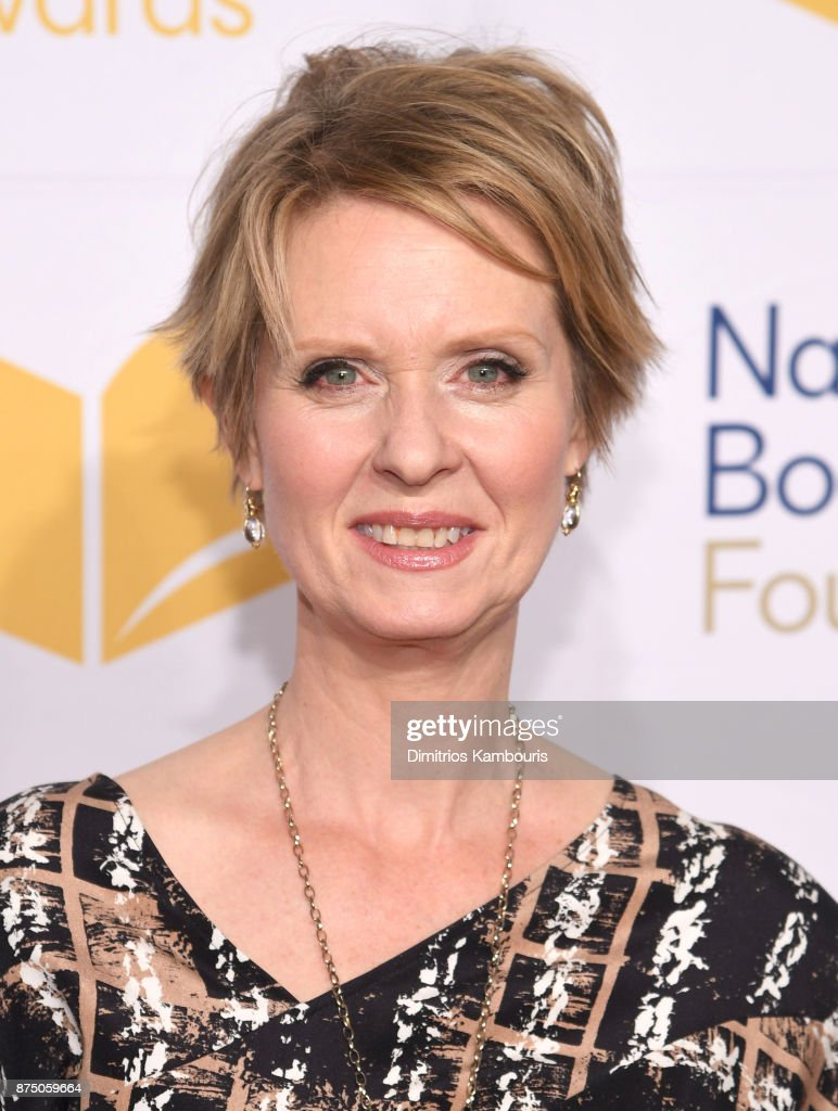Cynthia Nixon attends the 68th National Book Awards at Cipriani Wall Street on November 15, 2017 in New York City.