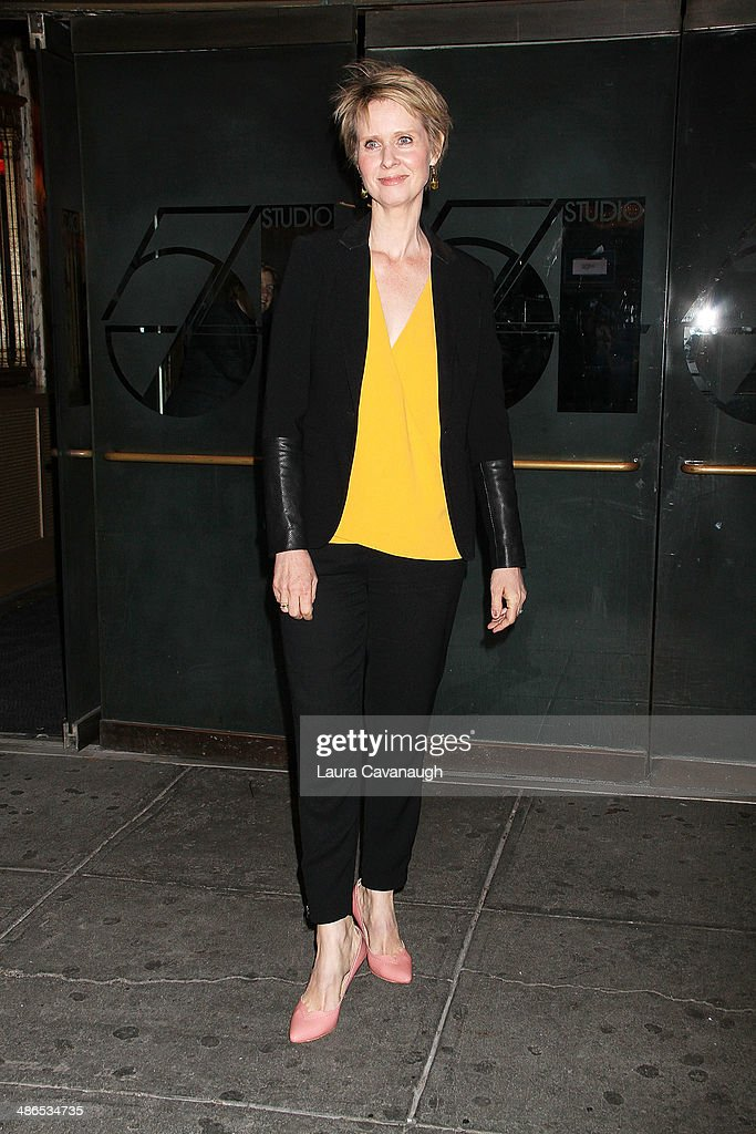 <a gi-track='captionPersonalityLinkClicked' href=/galleries/search?phrase=Cynthia+Nixon&family=editorial&specificpeople=202583 ng-click='$event.stopPropagation()'>Cynthia Nixon</a> attends the Broadway opening night of 'Cabaret' at Studio 54 on April 24, 2014 in New York City.