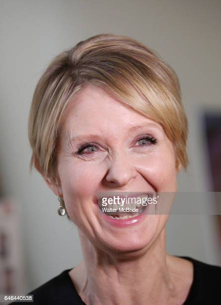 Cynthia Nixon attends the cast photo call for the Manhattan Theatre Club's New Broadway Production of 'The Little Foxes' at the MTC Rehearsal studios...