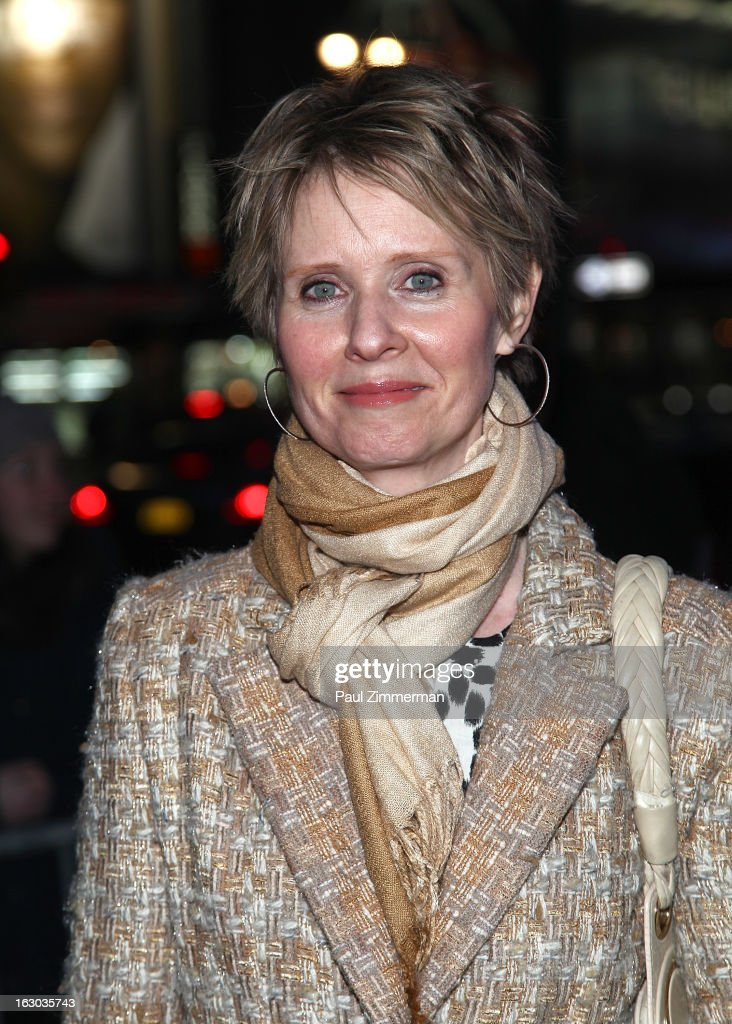 Cynthia Nixon attends the 'Cinderella' Broadway Opening Night at Broadway Theatre on March 3, 2013 in New York City.