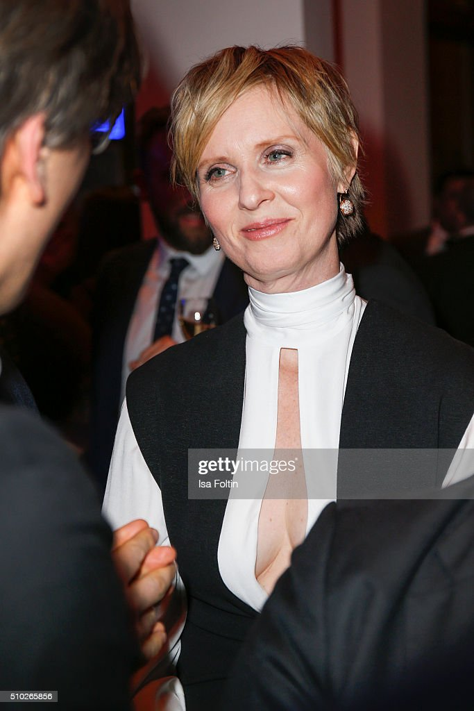 <a gi-track='captionPersonalityLinkClicked' href=/galleries/search?phrase=Cynthia+Nixon&family=editorial&specificpeople=202583 ng-click='$event.stopPropagation()'>Cynthia Nixon</a> attends the Glashuette 'A Quiet Passion' Pre-Premiere Reception on February 14, 2016 in Berlin, Germany.