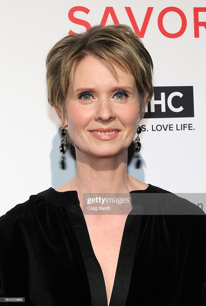 Cynthia Nixon attends the GMHC 5th Annual Savor Benefit Dinner Hosted By Cynthia Nixon at Cipriani 42nd Street on March 21, 2013 in New York City.