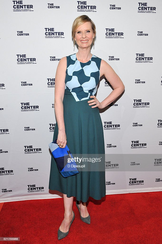 <a gi-track='captionPersonalityLinkClicked' href=/galleries/search?phrase=Cynthia+Nixon&family=editorial&specificpeople=202583 ng-click='$event.stopPropagation()'>Cynthia Nixon</a> attends The LGBT Center of New York's annual fundraising dinner honoring Mary-Louise Parker and BNY Mellon at Cipriani Wall Street on April 14, 2016 in New York City.
