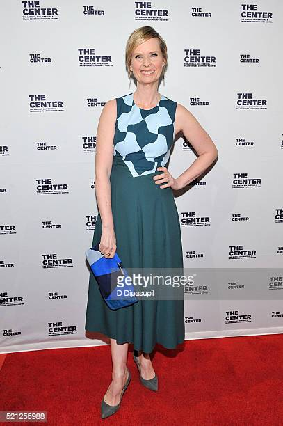 Cynthia Nixon attends The LGBT Center of New York's annual fundraising dinner honoring MaryLouise Parker and BNY Mellon at Cipriani Wall Street on...