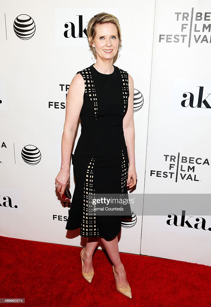 Cynthia Nixon attends the premiere of 'The Adderall Diaries' during the 2015 Tribeca Film Festival at BMCC Tribeca PAC on April 16, 2015 in New York City.