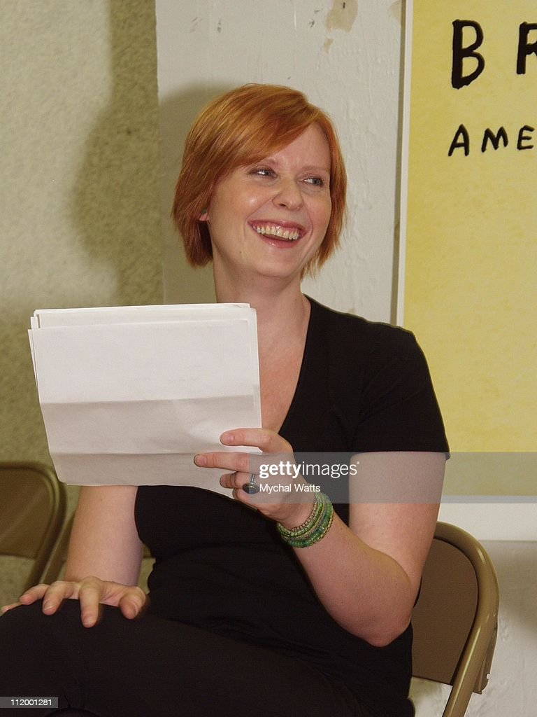 Cynthia Nixon during 'Brave New World' Open Rehearsals Presentation at Chelsea Studios in New York City, New York, United States.