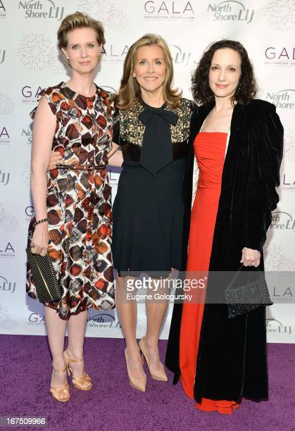 Cynthia Nixon Meredith Vieira and Bebe Neuwirth attend the 2013 North ShoreLIJ Health System Gala at the Intrepid SeaAirSpace Museum on April 25 2013...