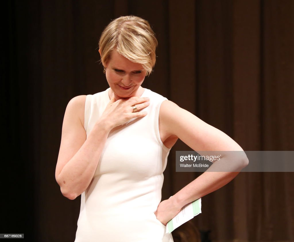 Cynthia Nixon on stage at the 2017 The Lilly Awards at Playwrights Horizons on May 22, 2017 in New York City.
