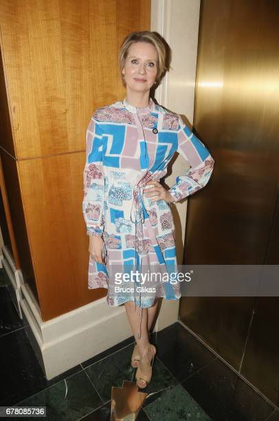 Cynthia Nixon poses at The 71st Annual Tony Awards Meet the Nominees Press Junket at Sofitel Hotel on May 3 2017 in New York City