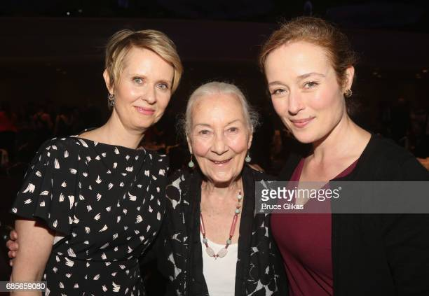 Cynthia Nixon Rosemary Harris and Jennifer Ehle pose at the 2017 Drama League Awards Luncheon at The Marriott Marquis Times Square on May 19 2017 in...