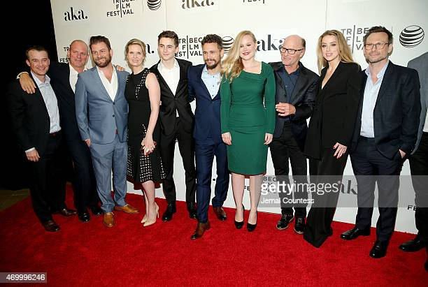 Cynthia Nixon Timothee Chalamet James Franco Pamela Romanowsky Ed Harris Amber Heard Christian Slater and producers attends the premiere of 'The...