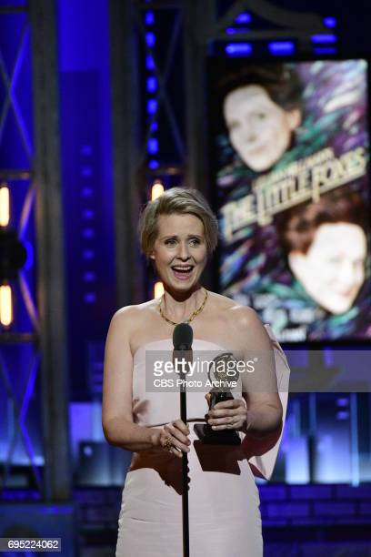 Cynthia Nixon winner Best Performance by an Actress in a Featured Role in a Play for Lillian Hellman's The Little Foxes at THE 71st ANNUAL TONY...