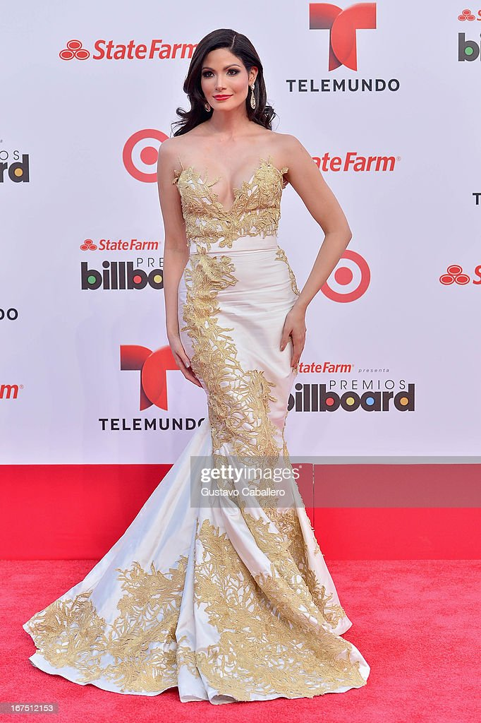 Cynthia Olavarría arrives at Billboard Latin Music Awards 2013 at Bank United Center on April 25, 2013 in Miami, Florida.