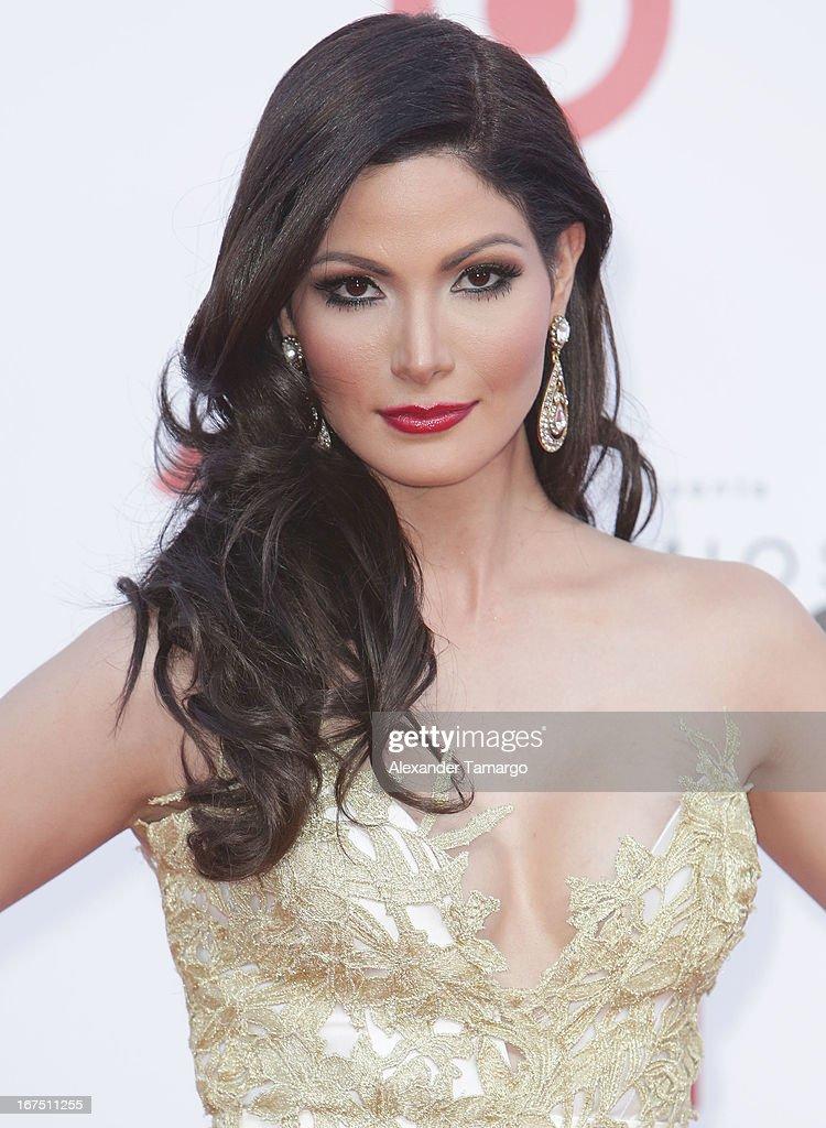 Cynthia Olavarria arrives at Billboard Latin Music Awards 2013 at Bank United Center on April 25, 2013 in Miami, Florida.