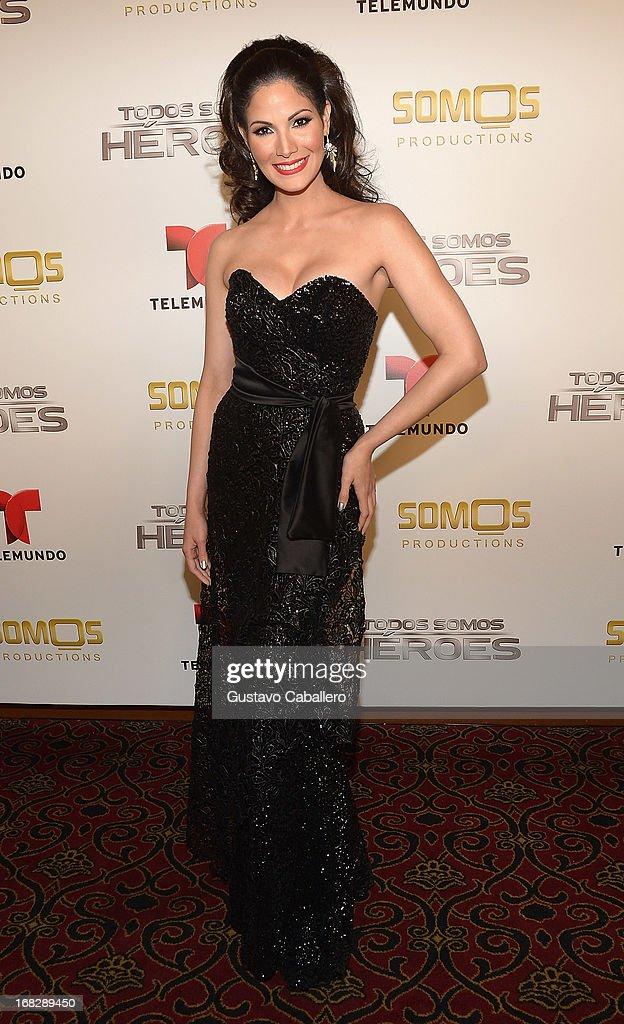 Cynthia Olavarria attends the Telemundo's Todos Somos Heroes Gala on May 7, 2013 in Miami, United States.