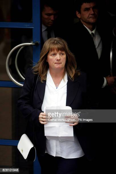 Cynthia Owen leaves Dun Laoghaire Coroners Court to read a statement to the waiting mediaWednesday 7th September 2005 after the adjournment of an...