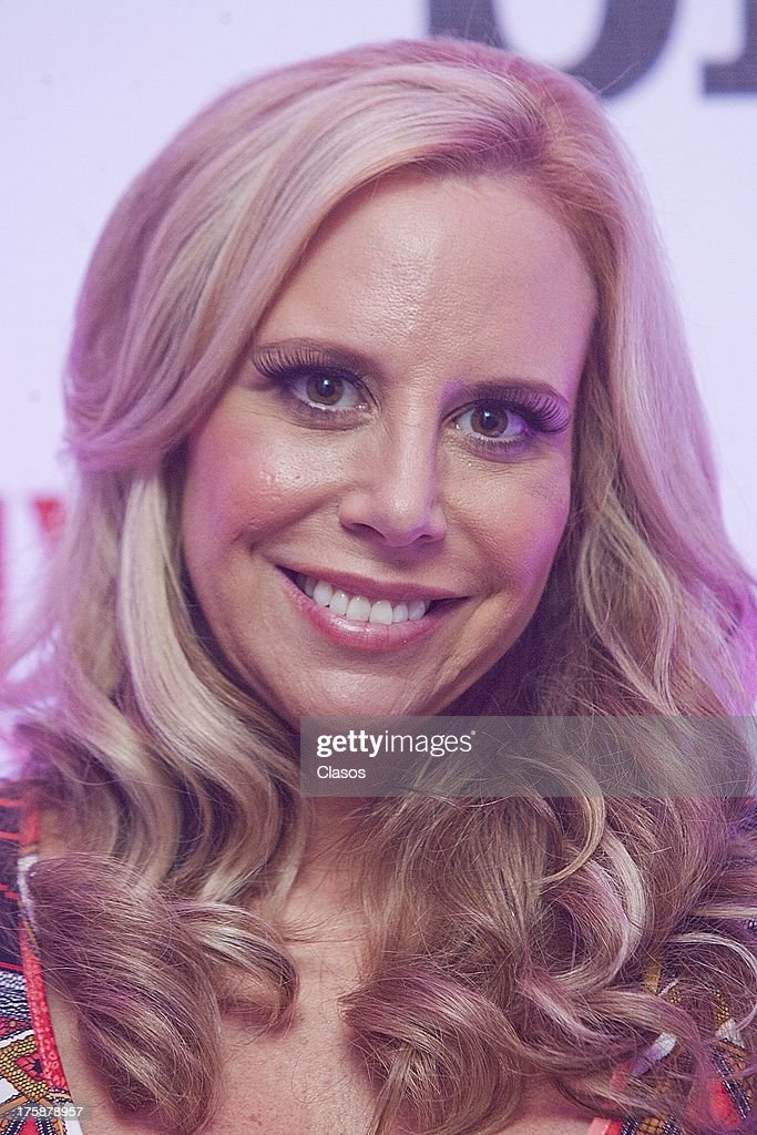 Cynthia Richards poses during a press conference of the TV show Divas Doble D on august 08, 2013 in Mexico City, Mexico.