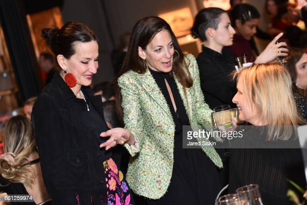 Cynthia Rowley and Bonnie Young attend the First Annual Medair Gala at Stephan Weiss Studio on March 30 2017 in New York City