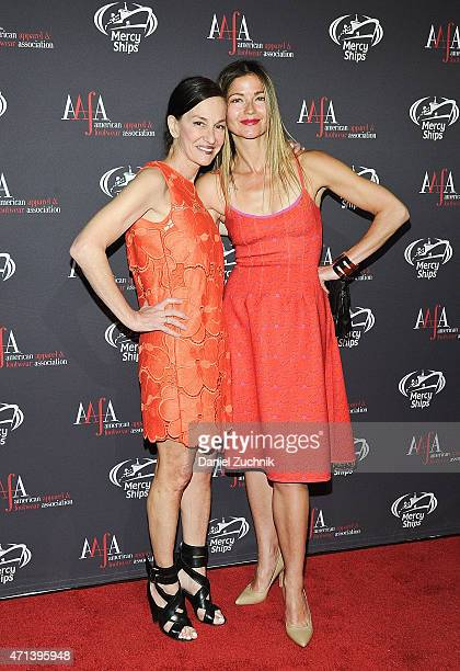 Cynthia Rowley and Jill Hennessy attend the AAFA American Image Awards at 583 Park Avenue on April 27 2015 in New York City