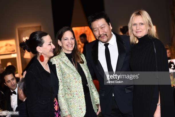Cynthia Rowley Bonnie Young Lewis Yoh and Samantha Kirby Yoh attend the First Annual Medair Gala at Stephan Weiss Studio on March 30 2017 in New York...