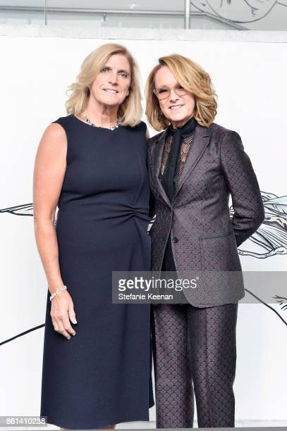 Cynthia Wornham and Ann Philbin at the Hammer Museum 15th Annual Gala in the Garden with Generous Support from Bottega Veneta on October 14 2017 in...