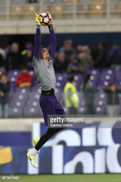 Cyprian Tatarusanu of ACF Fiorentina in action during the Serie A match between ACF Fiorentina v FC Internazionale at Stadio Artemio Franchi on April...