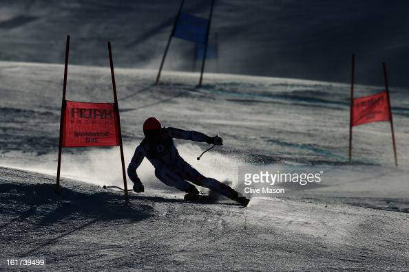 Cyprien Richard of France skis in the Men's Giant Slalom during the Alpine FIS Ski World Championships on February 15 2013 in Schladming Austria