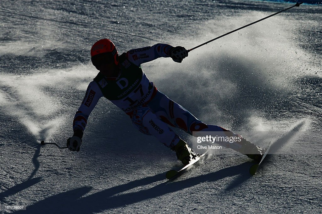 Cyprien Richard of France skis in the Men's Giant Slalom during the Alpine FIS Ski World Championships on February 15, 2013 in Schladming, Austria.