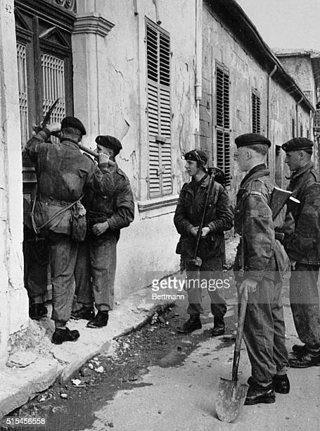 British Troops Search for EOKA Fighters