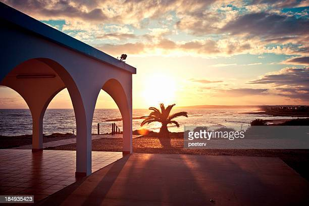 Zypern Sonnenuntergang.