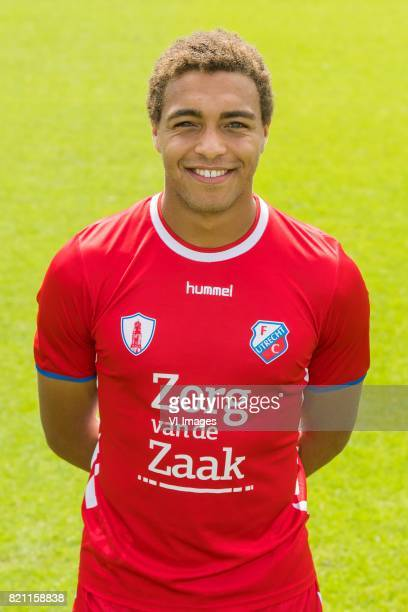 Cyriel Dessers during the team presentation of FC Utrecht on July 22 2017 at Sportcomplex Zoudenbalch in Utrecht The Netherlands