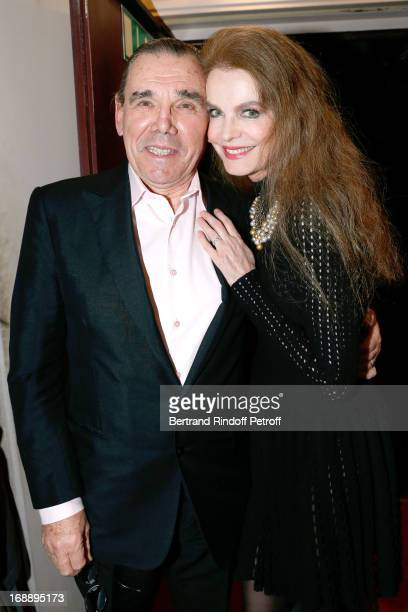 Cyrielle Clair and companion Michel Corbiere attend 'Ninon Lenclos ou La Liberte' Theater Play on May 15 2013 in Paris France