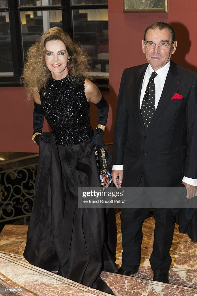 Cyrielle Clair and her husband Michel Corbiere attend the Grand Bal Care In Deauville on August 24 2013 in Deauville France Care France the French...
