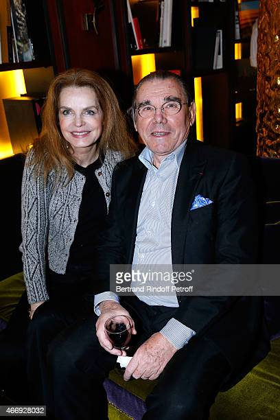 Cyrielle Clair and Michel Corbiere attend the Cocktail for the Cinema Award 2015 of Foundation Diane Lucien Barriere given to the movie 'Les Chateaux...
