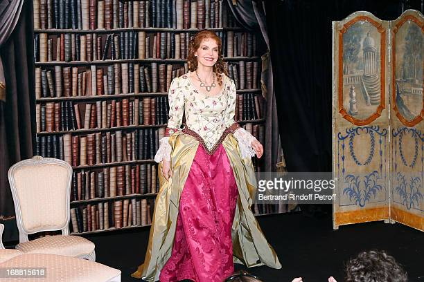 Cyrielle Clair on stage after 'Ninon Lenclos ou La Liberte' Theater Play on May 15 2013 in Paris France