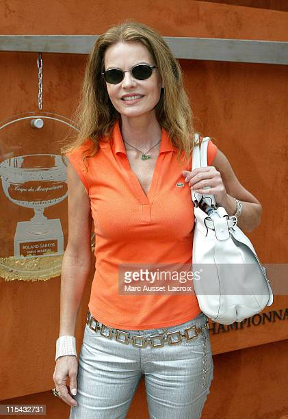 Cyrielle Claire poses in the 'Village' the VIP area of the French Open at Roland Garros arena in Paris France on June 3 2007