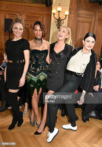 Cyrielle Joell Alicia Fall Julia Battailla and Sylvie Ortega Munos attend the Dany Atrache Haute Couture Spring Summer 2017 show as part of Paris...