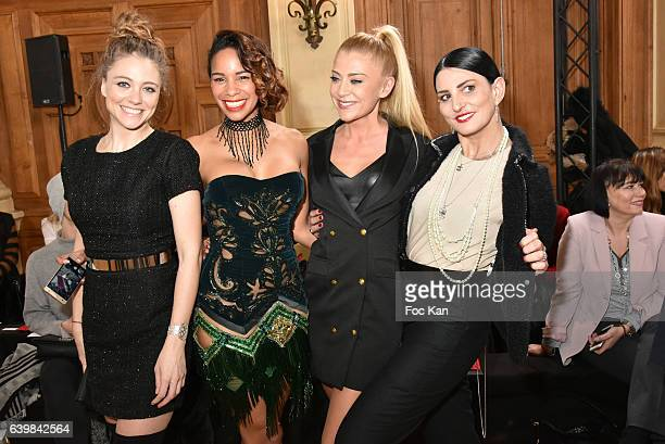Cyrielle Joelle Alicia Fall Julia Battaia Sylvie Ortega Munos attends the Dany Atrache Haute Couture Spring Summer 2017 show as part of Paris Fashion...