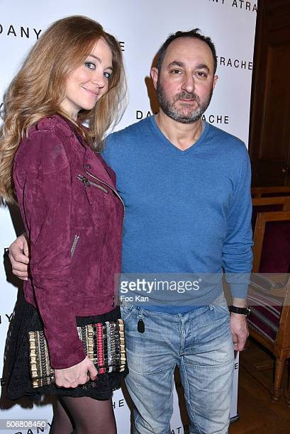 Cyrielle Joelle and Dany Atrache attend the Dany Atrache Spring Summer 2016 show as part of Paris Fashion Week on January 25 2016 in Paris France