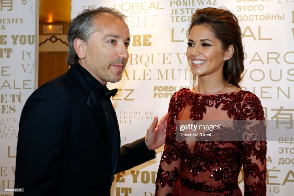 Cyril Chapuy and Cheryl Cole attends a L'Oreal Cocktail Reception during The 66th Cannes Film Festival on May 18 2013 in Cannes France