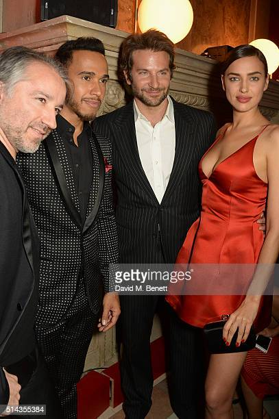 Cyril Chapuy Lewis Hamilton Bradley Cooper Irina Shayk attend the Red Obsession party to celebrate L'Oreal Paris's partnership with Paris Fashion...
