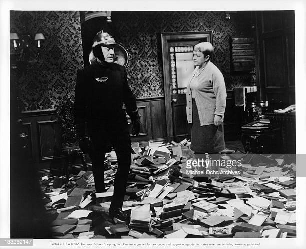 Cyril Cusack tells B EE Duffell she must leave her house before its burned down in a scene from the film Fahrenheit 451' 1966