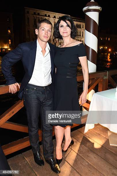 Cyril Descours and Alessandra Martines attend Tiziana Rocca Birthday Party during the 71st Venice Film Festival at Centurion Palace Hotel on August...