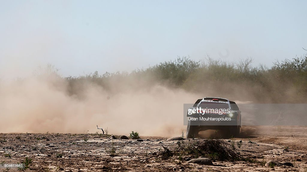 Cyril Despres of France and David Castera of France in the PEUGEOT 2008 DKR for TEAM PEUGEOT TOTAL compete on day 10 stage 9 during the 2016 Dakar...