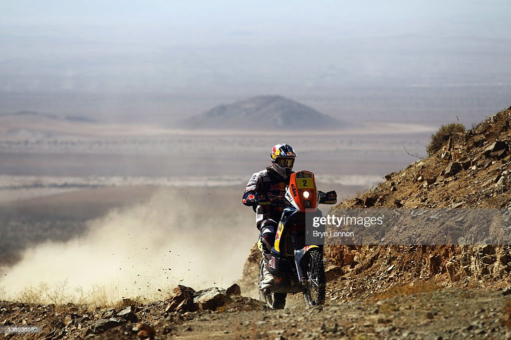 Cyril Despres of France and the KTM MRW Rally Factory Team in action on stage seven of the 2012 Dakar Rally from Copiapo to Copiapo on January 7 2012...