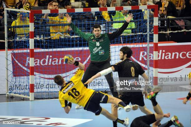 Cyril DUMOULIN Bjarte MYRHOL Chambery / Rhein Neckar Lowen Ligue des Champions 2010/2011 Chambery