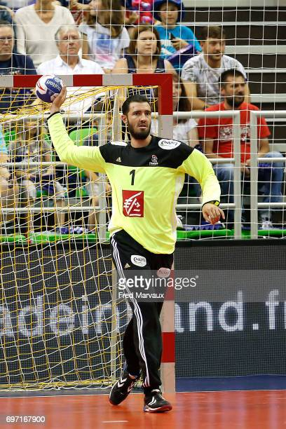 Cyril Dumoulin of France during the EHB Euro 2018 qualifying match between France and Belgium on June 17 2017 in Montbeliard France